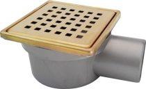 Sukar Drain padlóösszefolyó 10 x 10 cm (arany)