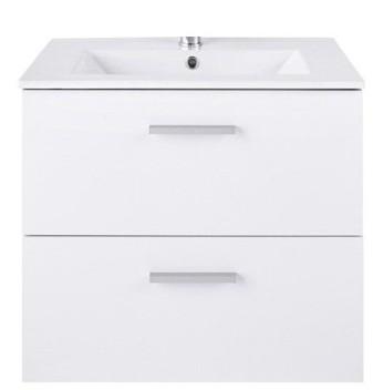 Fürdőszobai mosdó + szekrény (fényes fehér)