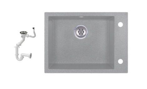 Evinion K615-45S Gránit Mosogató + Szifon készlet (szürke)