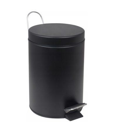 YOKA Home fürdőszobai szemetes (kerek) - fekete