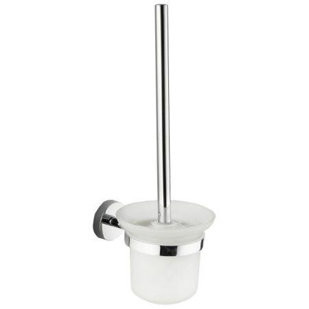 Mexen Loft wc kefe fali tartóval - króm / üveg (712650-00)