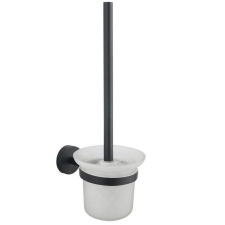 Mexen Loft wc kefe fali tartóval - fekete/üveg (7012650-70)