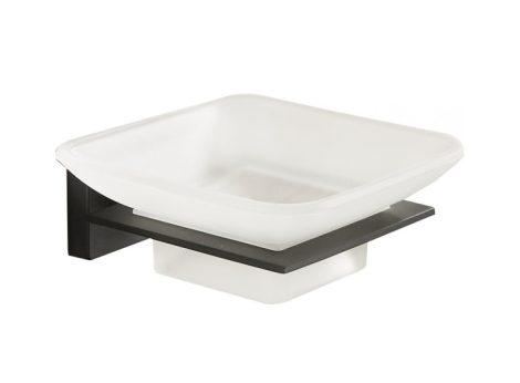 Mexen Arno fali szappantartó - fekete/üveg (7020739-70)