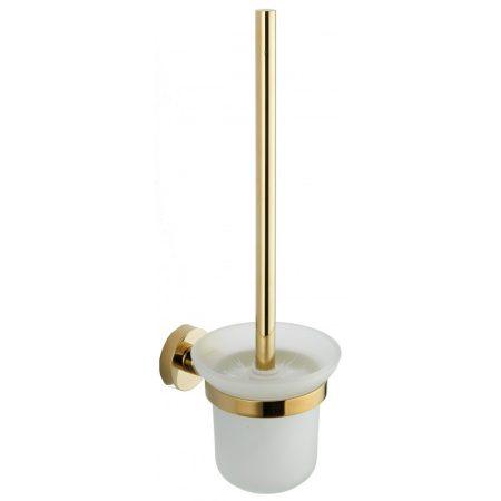 Mexen Remo wc kefe fali tartóval - arany / üveg (7050750-50)