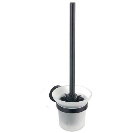 Mexen Remo wc kefe fali tartóval - fekete/üveg (7050750-70)
