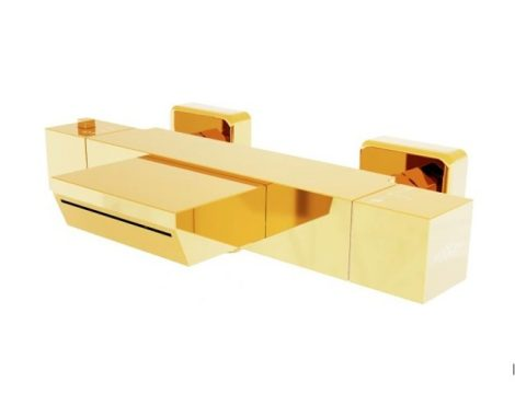 Mexen Cube termosztátos kádtöltő csaptelep - arany (77360-50)