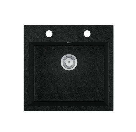 Gránit mosogató EOS Como + szifon készlet (fekete)