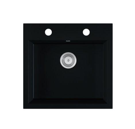 Gránit mosogató EOS Como + szifon (matt fekete)