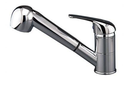SHOWER Kihúzható Zuhanyfejes Mosogató Csaptelep - Króm