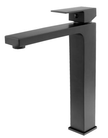 Gamma Cube Black magasított mosdó csaptelep - matt fekete