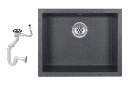 NERO H55-45GR Gránit Mosogató + Szifon (grafit)