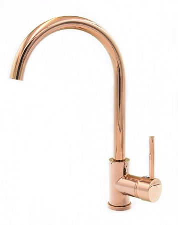 Gamma Rose-Gold magasított mosogató csaptelep - (rose gold)