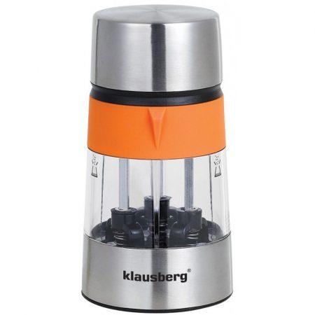 Klausberg 3in1 3 részes só- és borsőrlő - narancssárga / inox (KB-7020O)