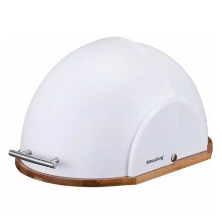 Klausberg Premium kenyértartó - rozsdamentes acél / bambusz (KB-7287)