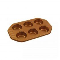 Klausberg tapadásmentes muffin sütőforma 6 darabos (KB-7375)