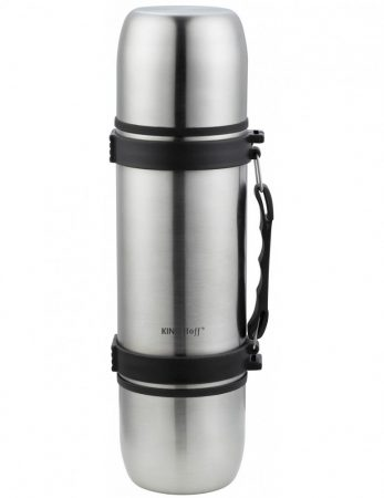 Kinghoff termosz pohárral - 700ml - inox (KH-1189)