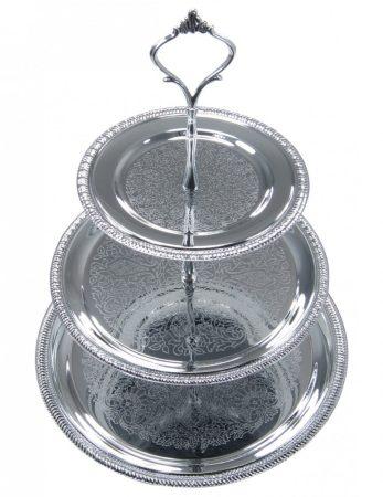 Kinghoff tortatartó / desszert tartó - 3 szintes (KH-1369)