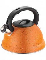 Kinghoff teáskanna, sípszóval - narancssárga - 3L (KH-3787O)