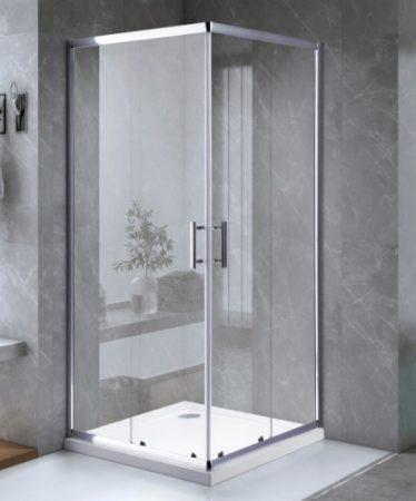 ARBO Glass zuhanykabin elhúzható ajtóval - 90 x 90 cm