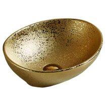 Mexen Elza pultra építhető kerámia mosdó - 40 x 34 cm - arany (21014050)