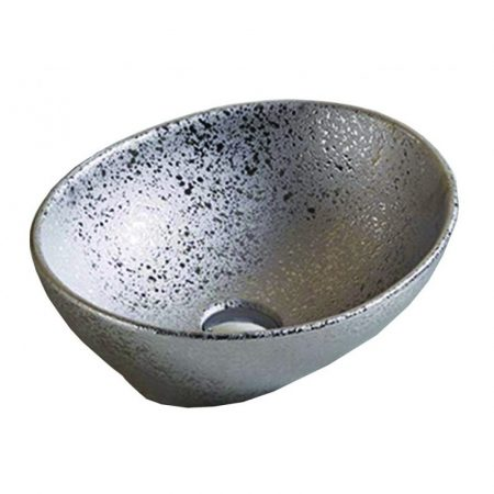 Mexen Elza pultra építhető kerámia mosdó - 40 x 34 cm - ezüst (21014052)