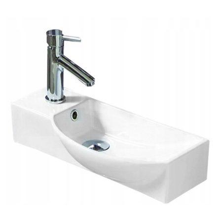 Mexen Hugo pultra / falra építhető kerámia mosdó - 50 x 24 cm - jobb oldali medence (21255000R)