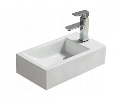 Mexen Inez pultra / falra építhető kerámia mosdó - 40 x 21.5 cm - Jobb oldali medence (21434500R)