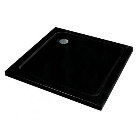 Mexen Slim zuhanytálca 90x90 cm + szifon - fekete (40709090)