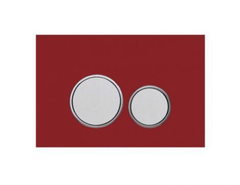 Mexen Fenix-02 piros / króm WC nyomólap - üveg (600627)