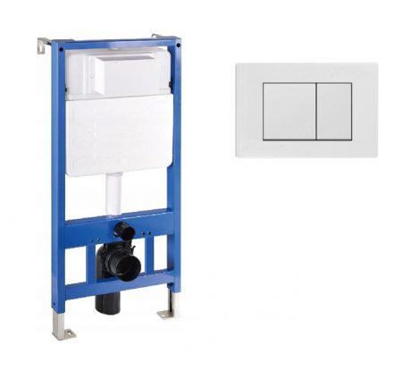 Mexen Fenix Slim beépíthető WC tartály + Fenix-02 fehér nyomólap (60100-600100)