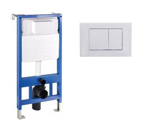 Mexen Fenix Slim beépíthető WC tartály + Fenix-01 inox nyomólap (60100-600102)