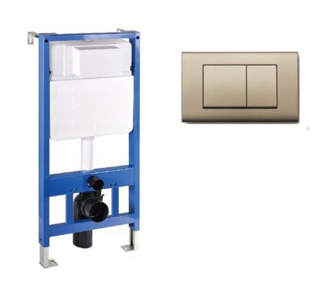 Mexen Fenix Slim beépíthető WC tartály + Fenix-01 arany nyomólap (60100-600104)