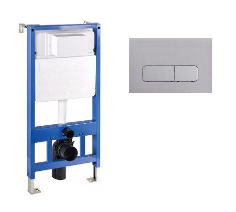 Mexen Fenix Slim beépíthető WC tartály + Fenix-02 króm nyomólap (60100-600201)