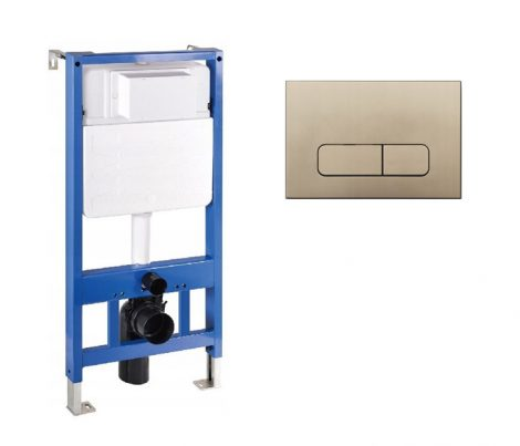 Mexen Fenix Slim beépíthető WC tartály + Fenix-02 arany nyomólap (60100-600204)