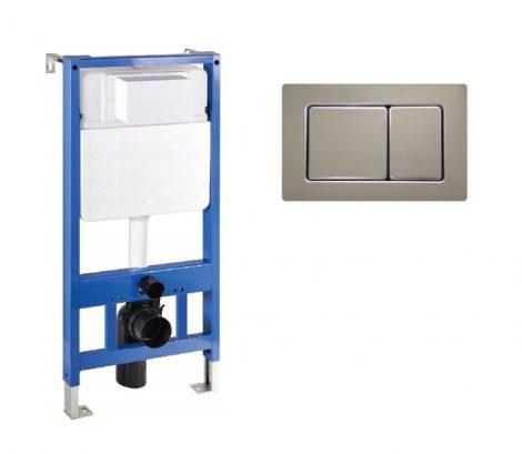 Mexen Fenix Slim beépíthető WC tartály + Fenix-02 inox nyomólap (60100-600311)