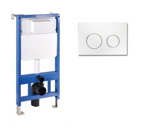 Mexen Fenix Slim beépíthető WC tartály + Fenix-07 fehér nyomólap (60100-600700)