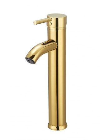 Mexen Lua-2 magasított fürdőszobai mosdó csaptelep - arany (72810-50)