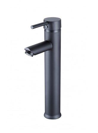 Mexen Lua-2 magasított fürdőszobai mosdó csaptelep - fekete (72811-70)