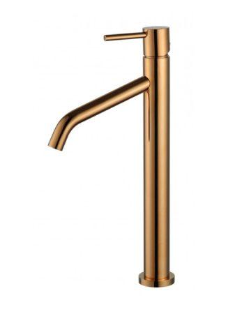 Mexen Rumba magasított fürdőszobai mosdó csaptelep - rose gold (73510-60)