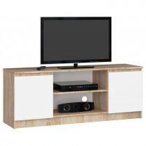 TV állvány 140 cm - Akord Furniture - fehér / sonoma tölgy