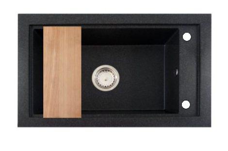 Panama P686-427C Gránit Mosogató + Szifon + Deszka (fekete)