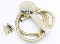 Gamma ZN zuhanyrózsa + zuhanycső + fali akasztó szett - arany